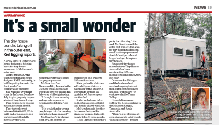 Featured in the Maroondah Leader Newspaper