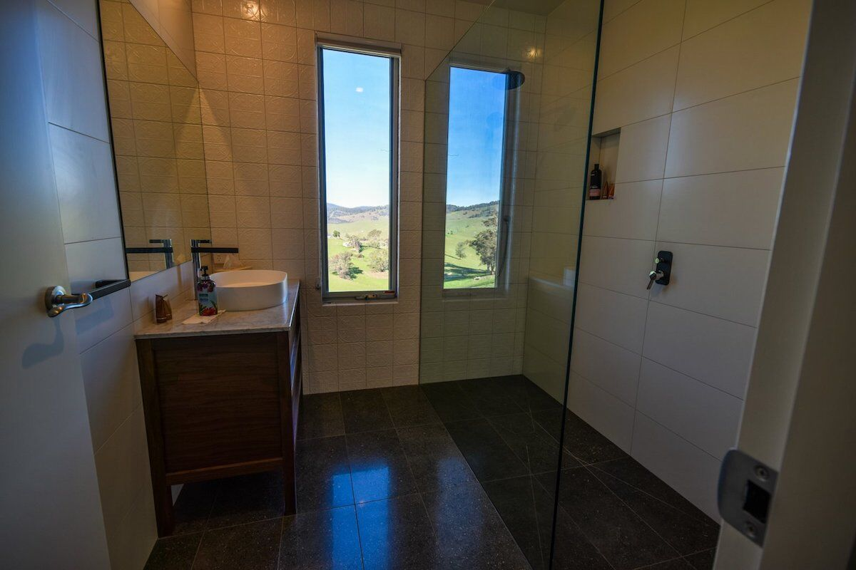 main bathroom designed for sustainable living