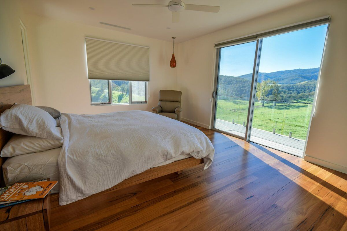 master bedroom as part of sustainable home design