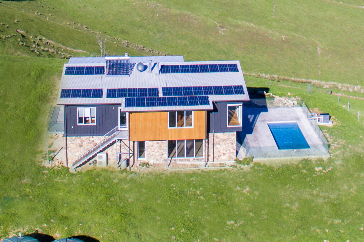 sustainable house design utilising solar panels
