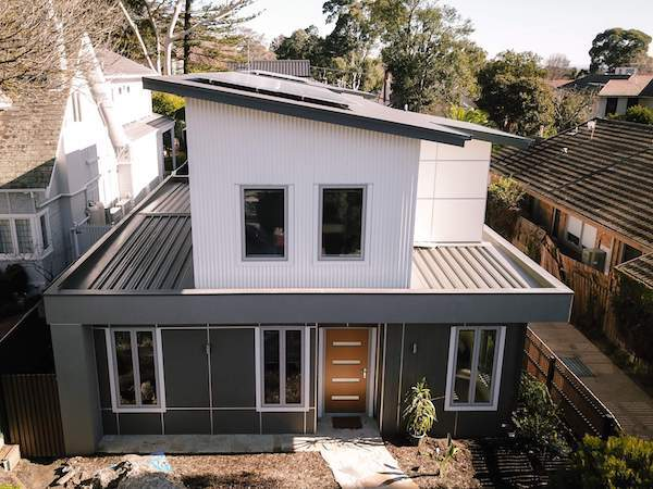 see our sustainable house project in Kew
